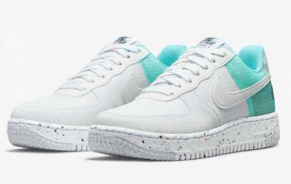 New Air Force 1 Low Crater Releasing With Aqua Tones